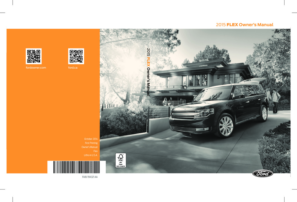 2015 Ford Flex owners manual