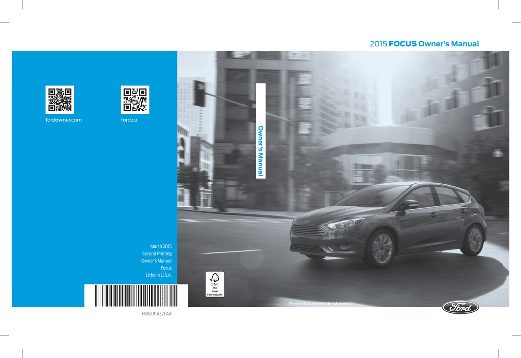 2015 Ford Focus owners manual