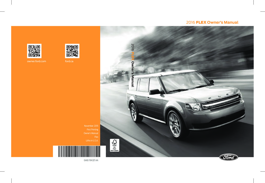 2016 Ford Flex owners manual