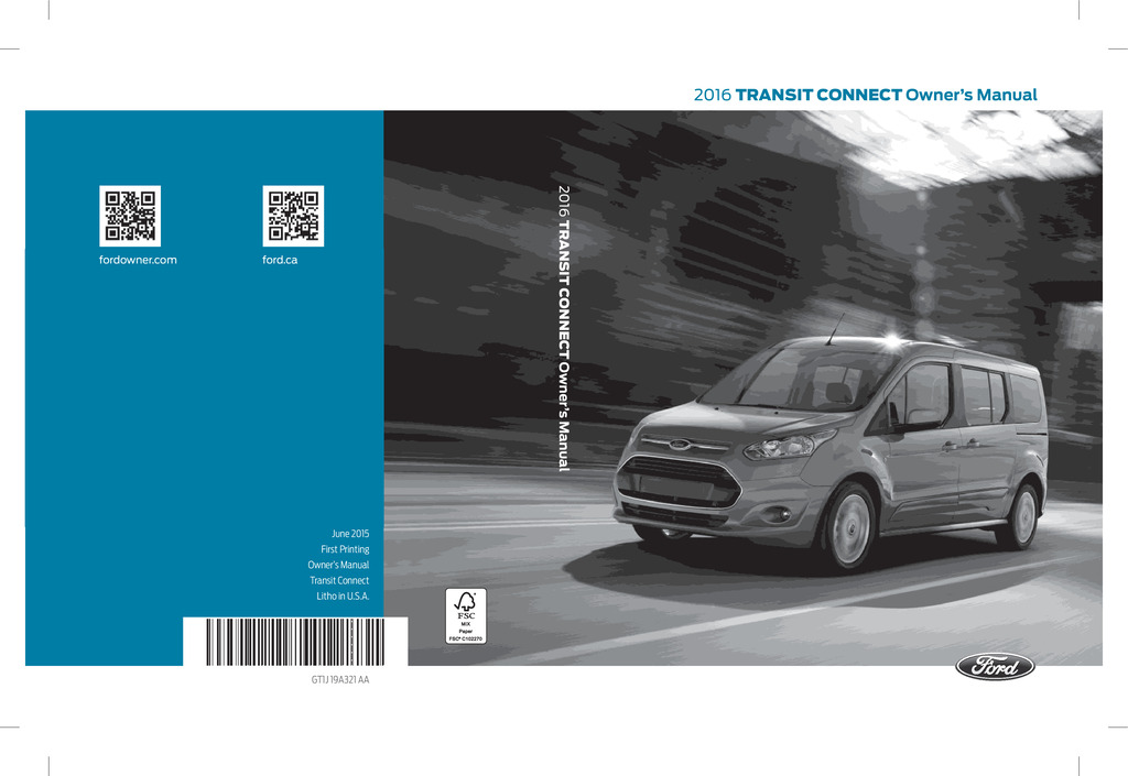 2016 Ford Transit Connect owners manual