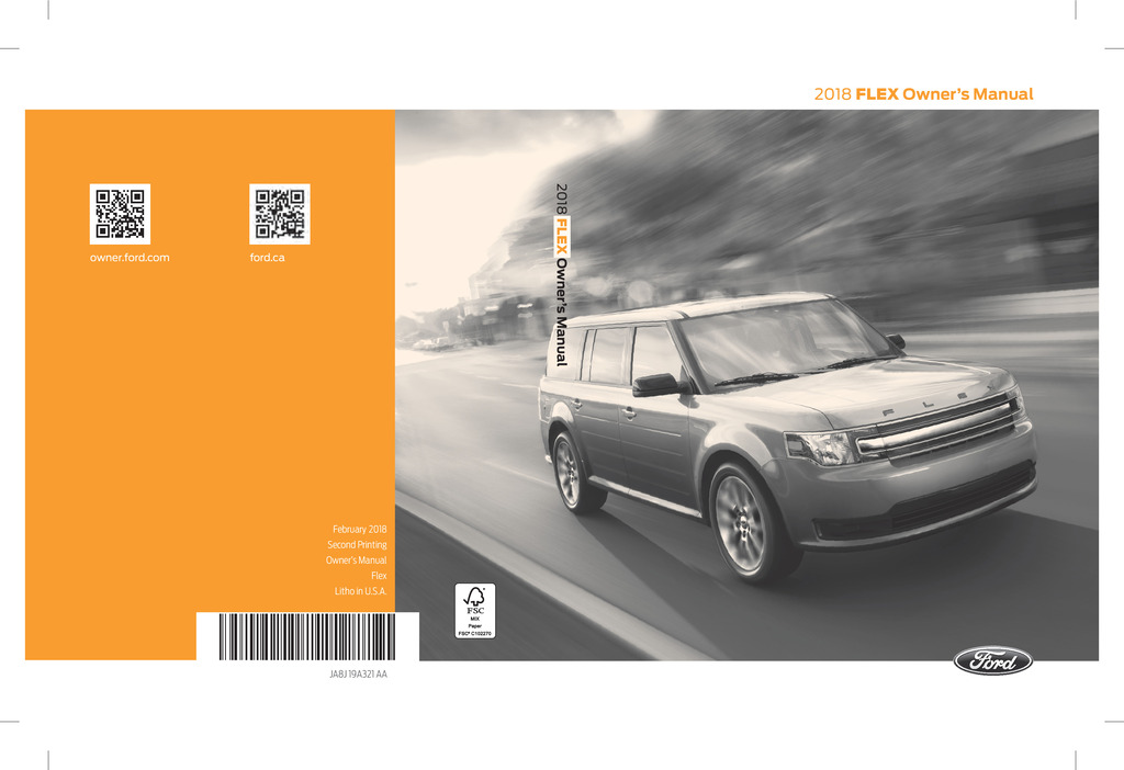 2018 Ford Flex owners manual