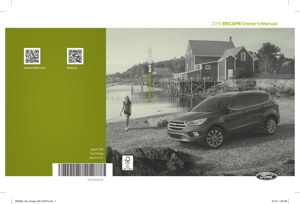 2017 Ford Escape Owner U2019s Manual Manual Guide