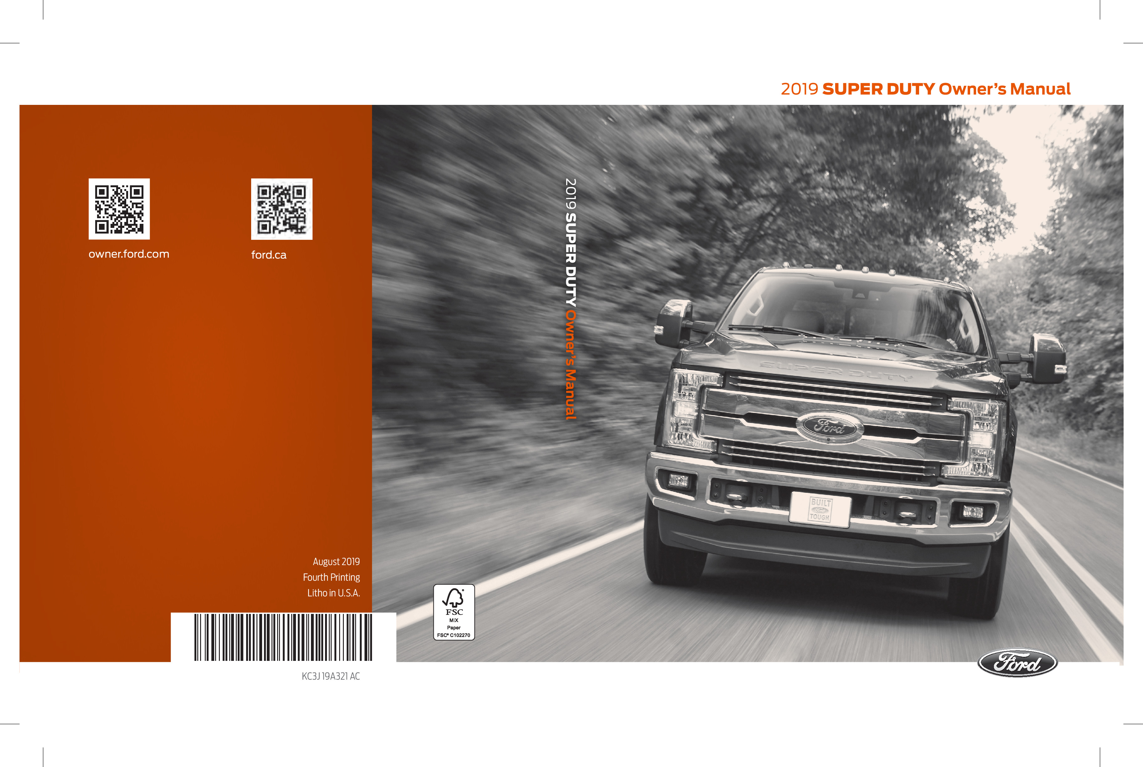 2019 Ford F450 Super Duty owners manual