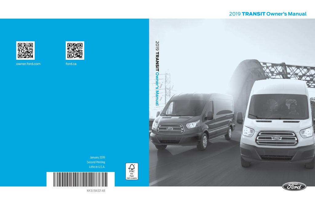 2019 Ford Transit owners manual