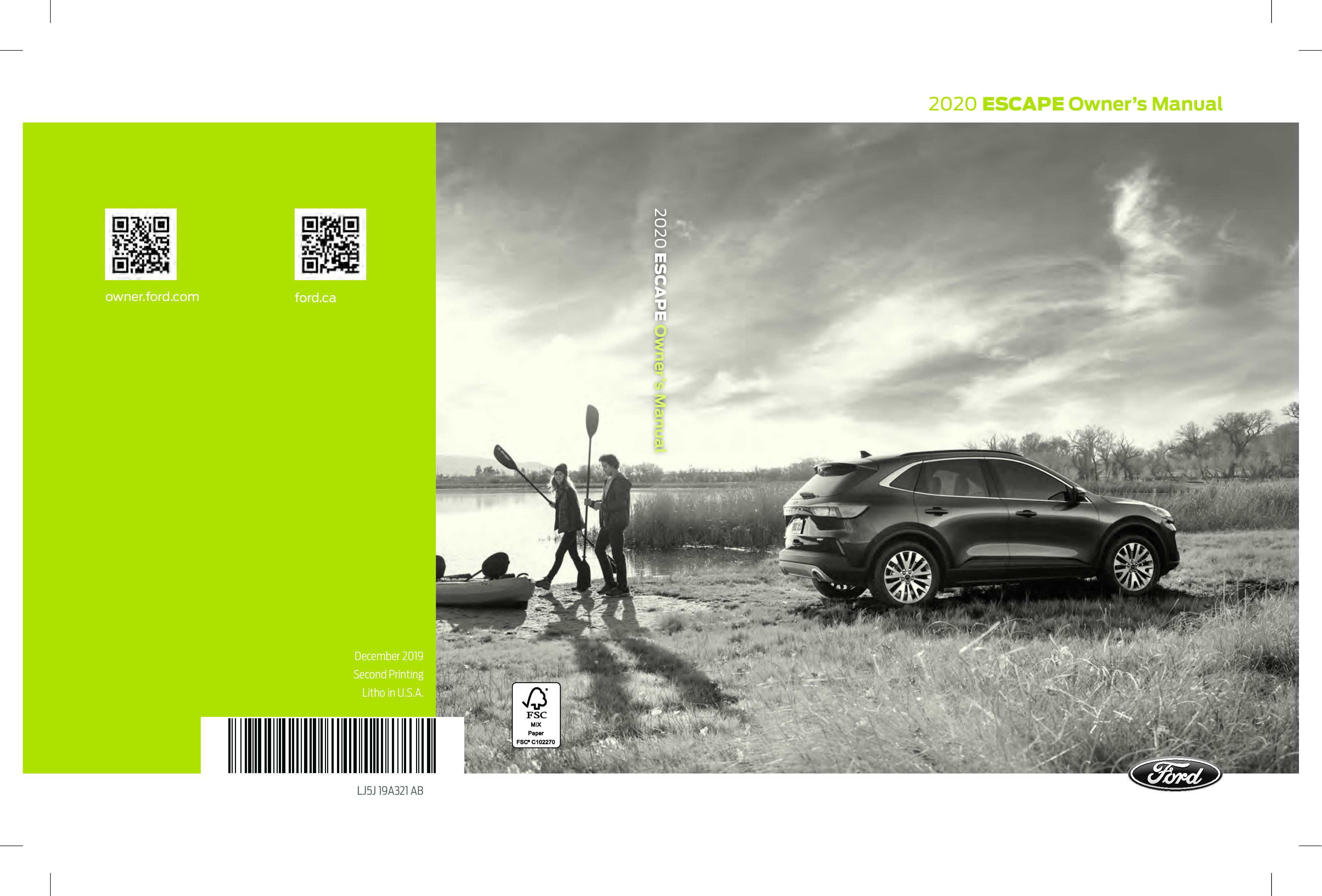 2020 Ford Escape owners manual