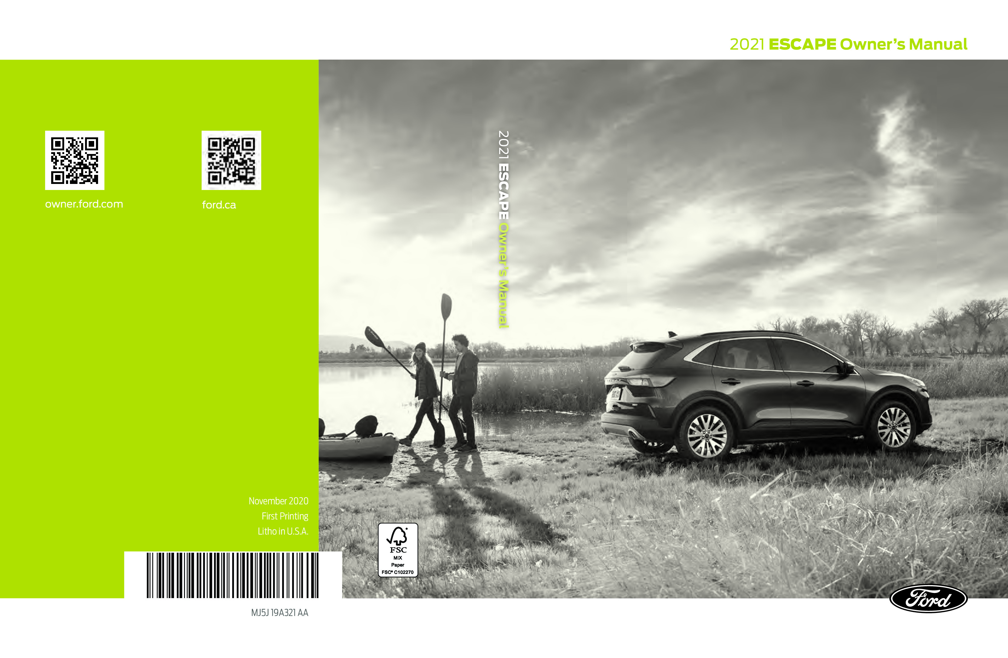 2021 Ford Escape owners manual