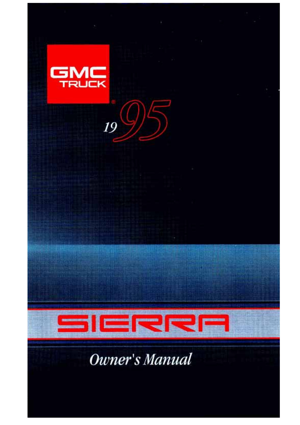 1995 GMC Sierra owners manual