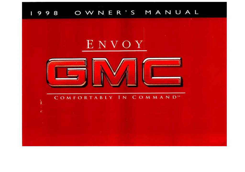 1998 GMC Envoy owners manual