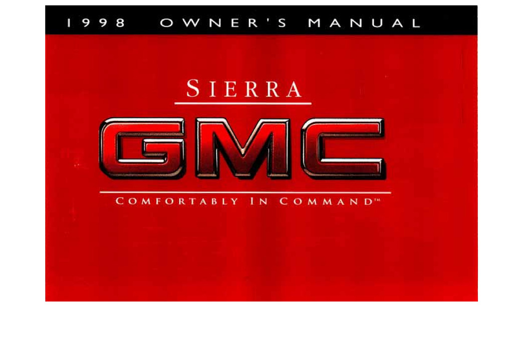 1998 GMC Sierra owners manual