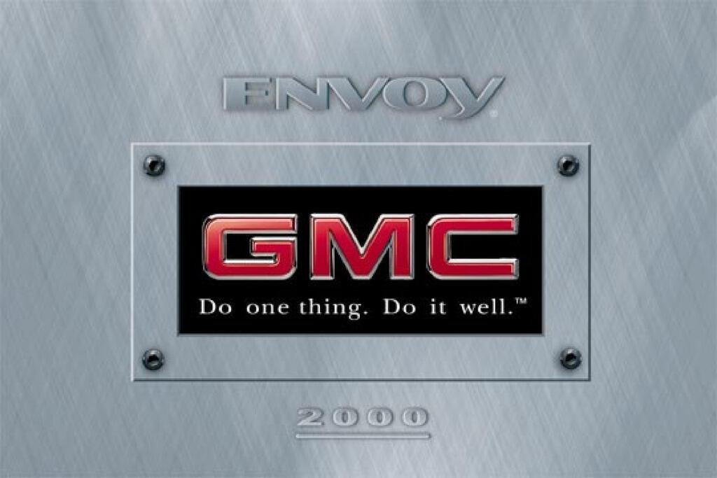 2000 GMC Envoy owners manual