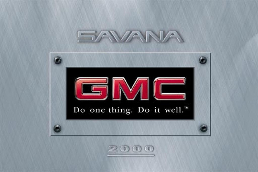 2000 GMC Savana owners manual