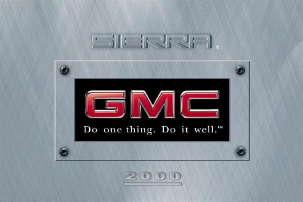 2000 GMC Sierra owners manual