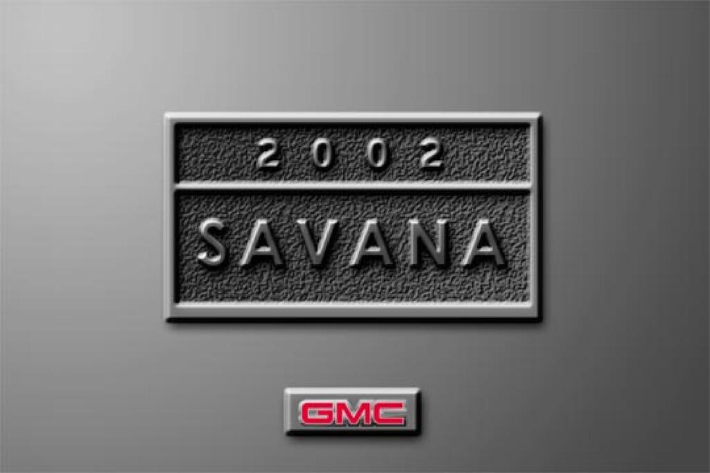 2002 GMC Savana owners manual