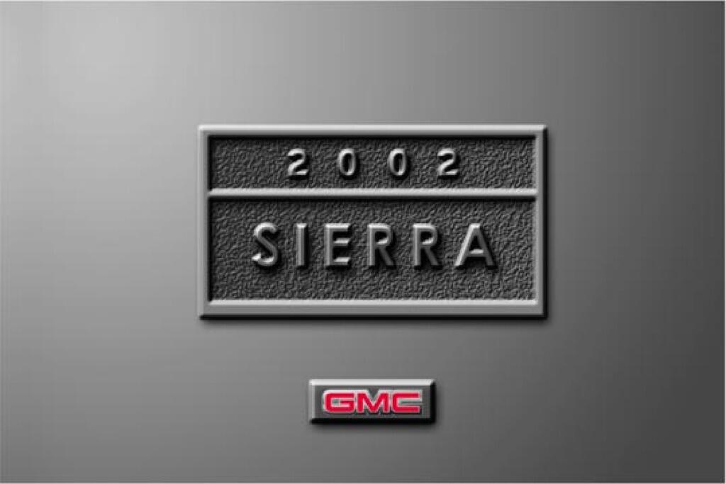 2002 GMC Sierra owners manual
