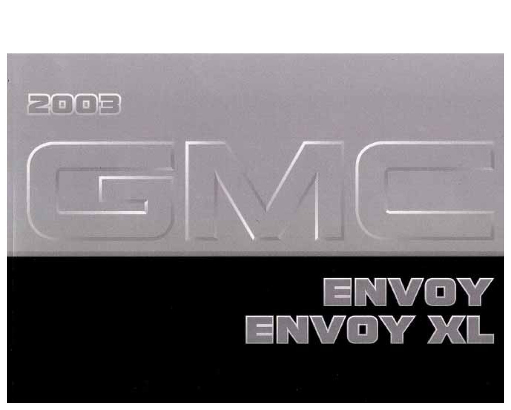 2003 GMC Envoy owners manual