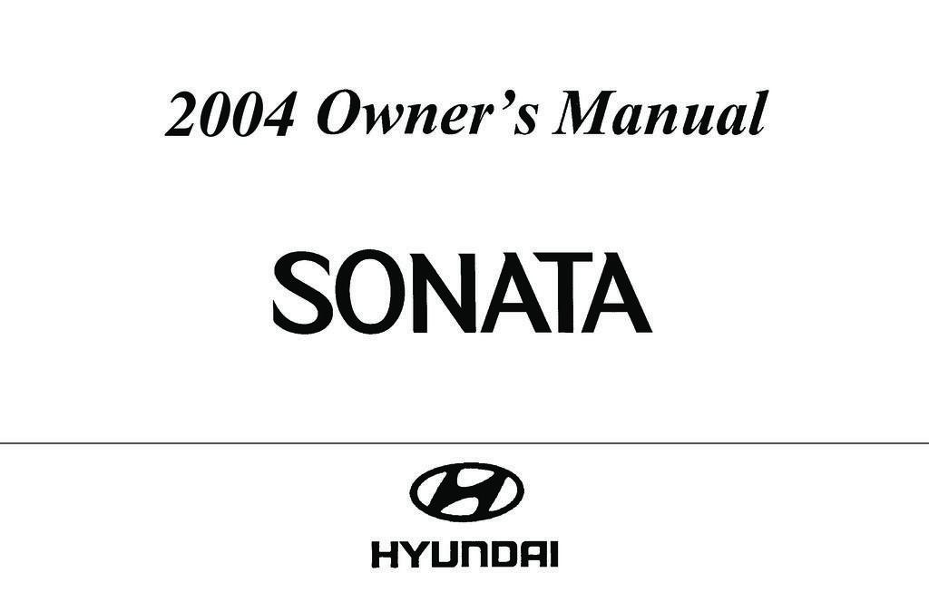 2004 Hyundai Sonata owners manual