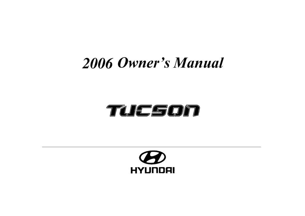2006 Hyundai Tucson owners manual