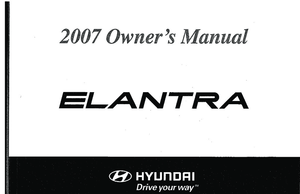 2007 Hyundai Accent owners manual