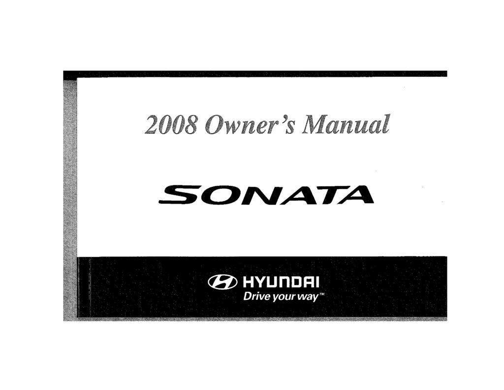 2008 Hyundai Sonata owners manual