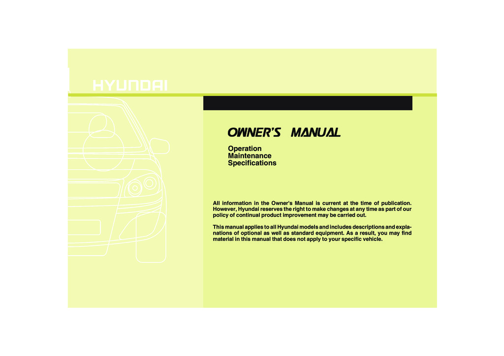 2011 Hyundai Accent owners manual