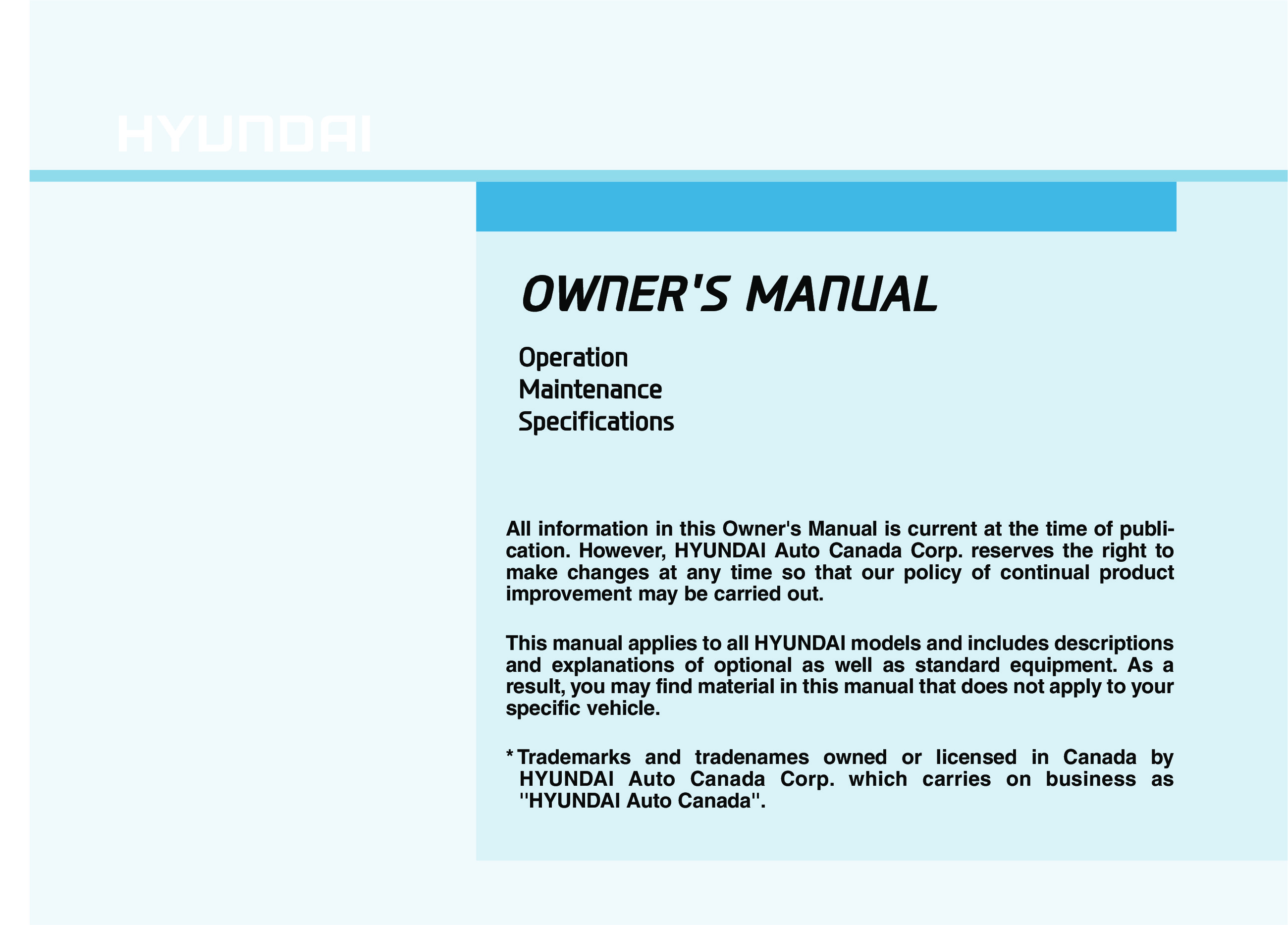 2021 Hyundai Kona owners manual