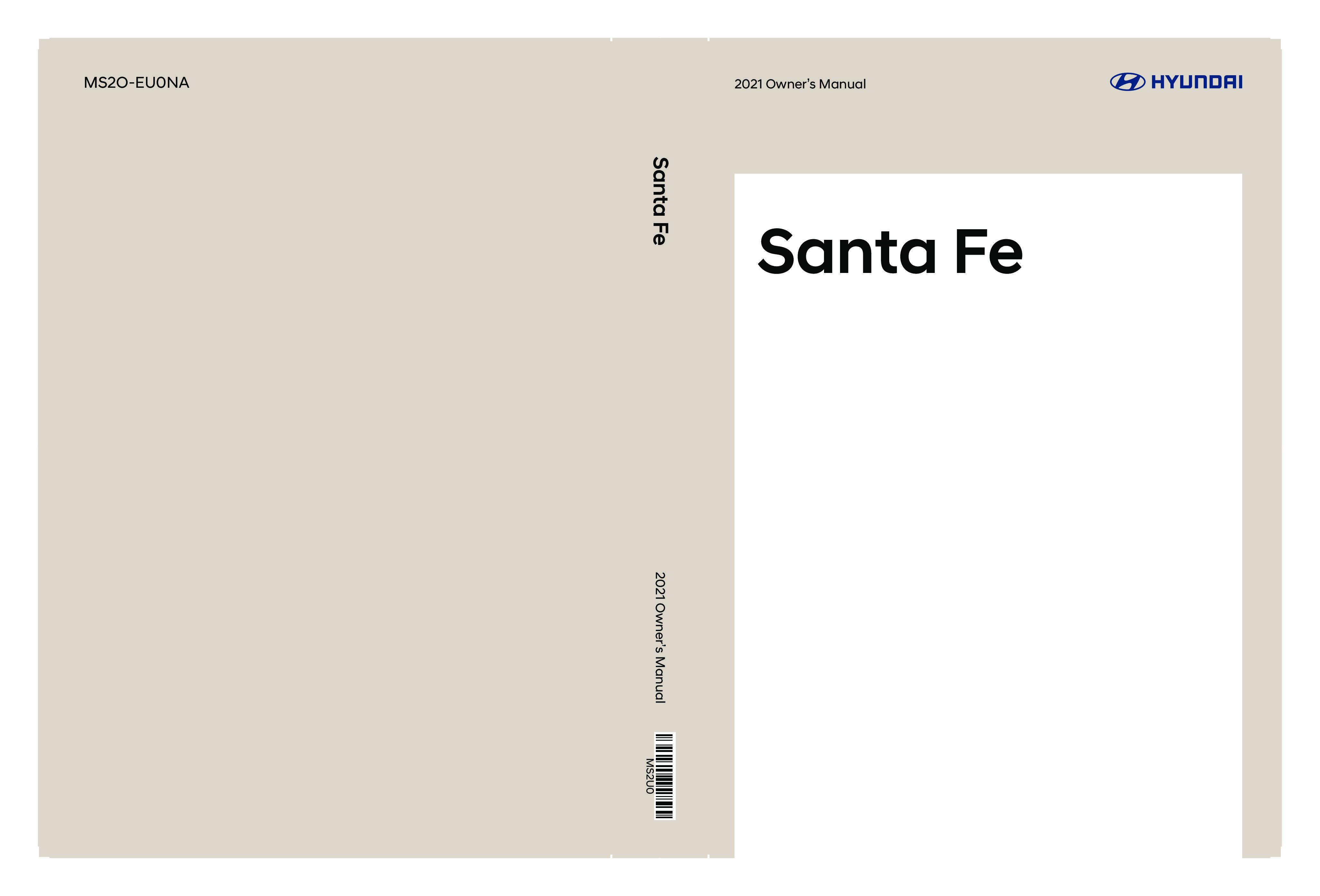 2021 Hyundai Santa Fe owners manual
