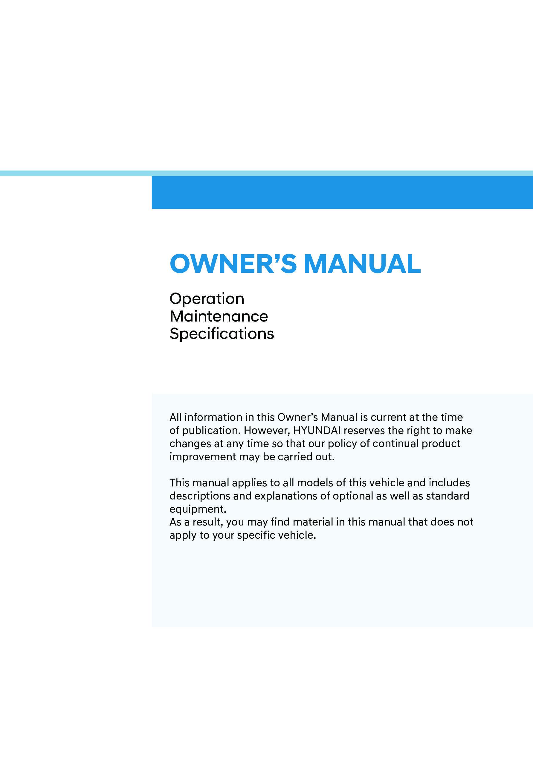 2022 Hyundai Tucson owners manual