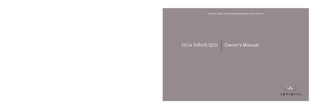 2014 Infiniti Q50 owners manual