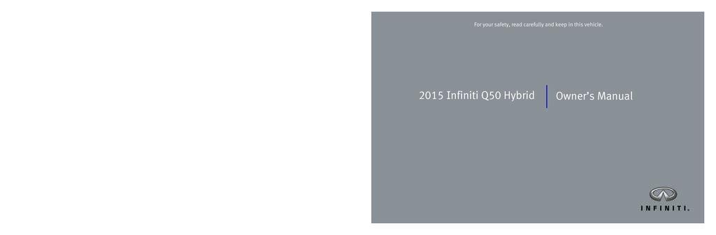 2015 Infiniti Q50 Hybrid owners manual