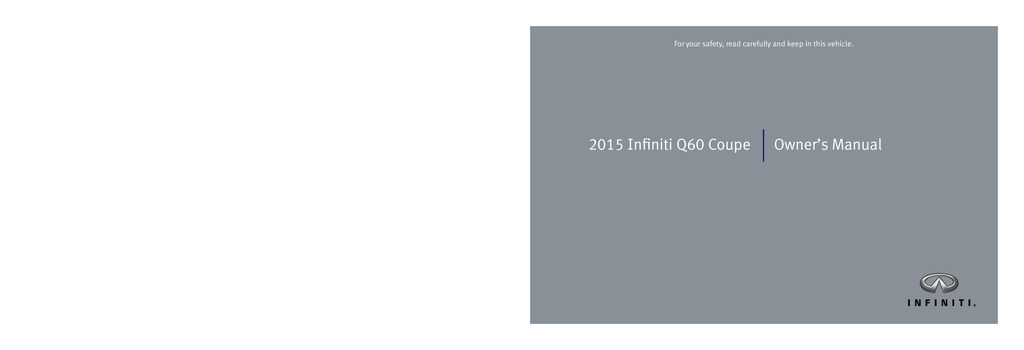 2015 Infiniti Q60 Coupe owners manual