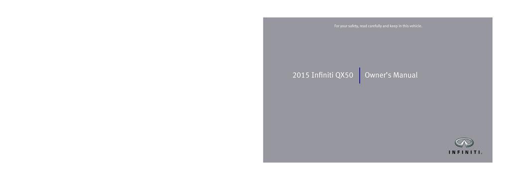 2015 Infiniti Qx50 owners manual