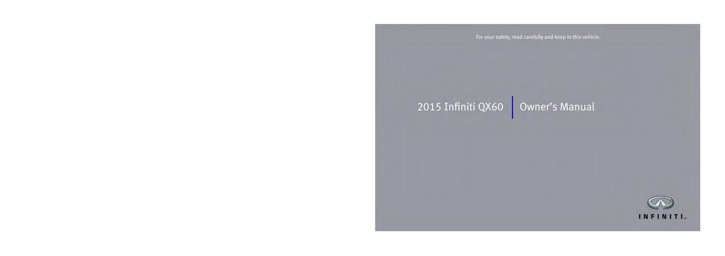 2015 Infiniti Qx60 owners manual