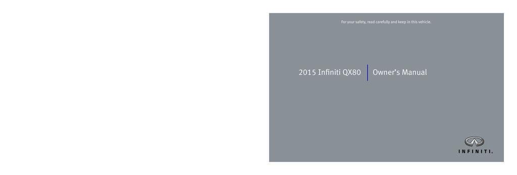 2015 Infiniti Qx80 owners manual