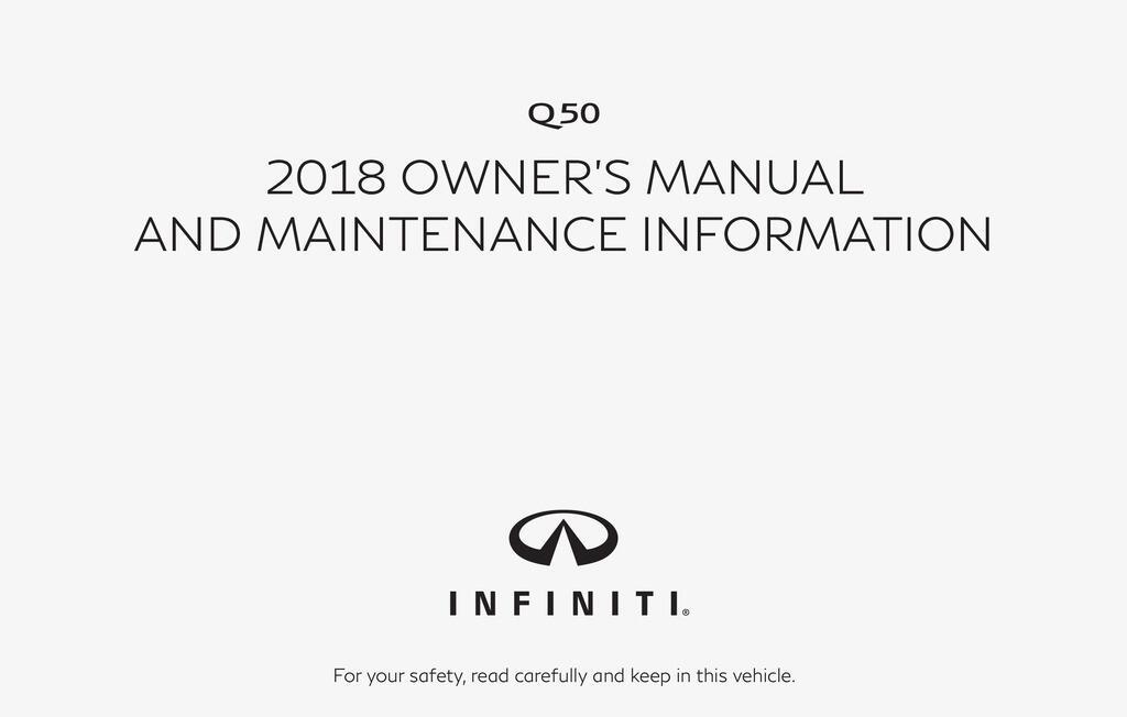 2018 Infiniti Q50 owners manual