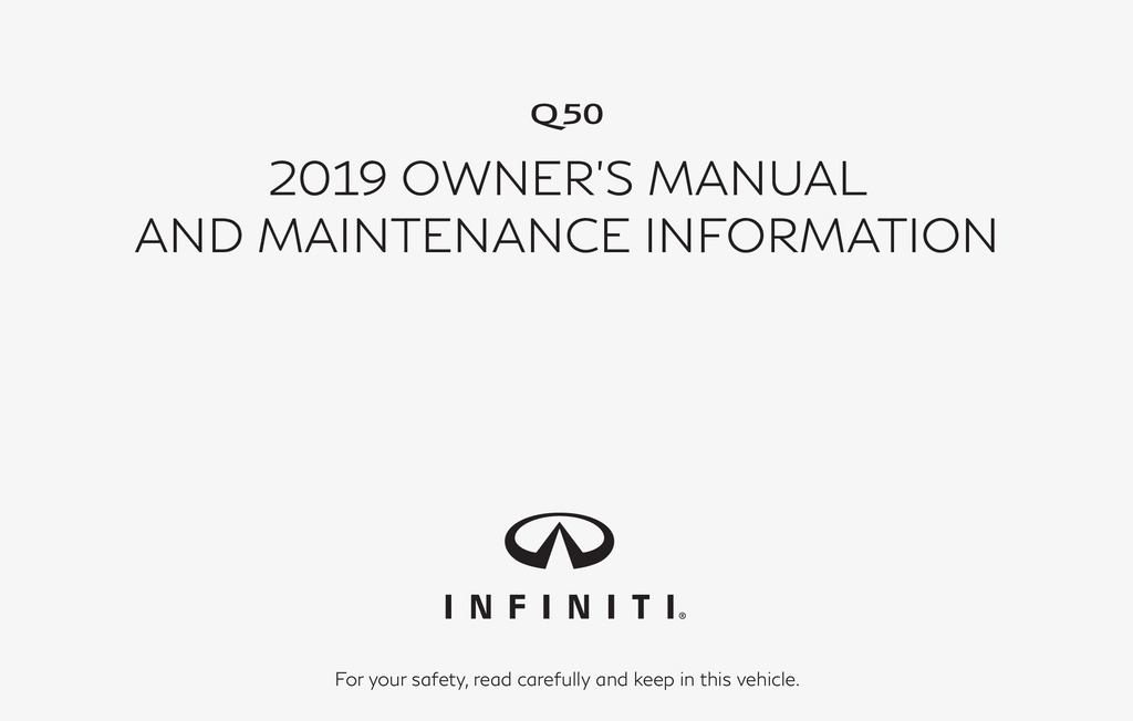 2019 Infiniti Q50 owners manual