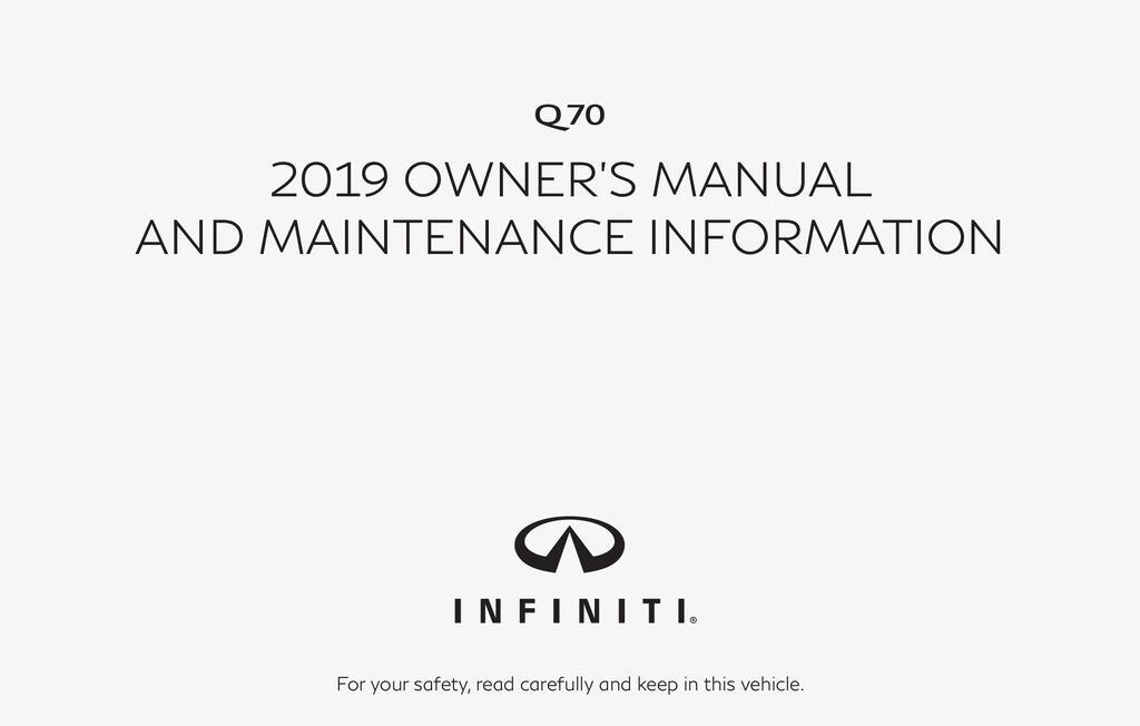 2019 Infiniti Q70 owners manual