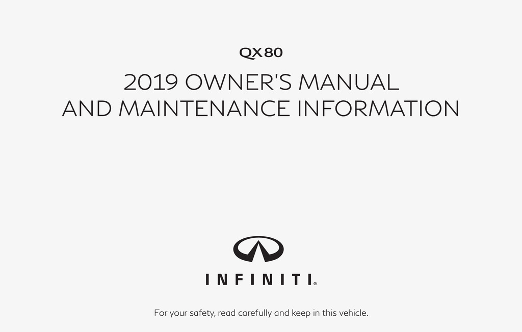 2019 Infiniti Qx80 owners manual