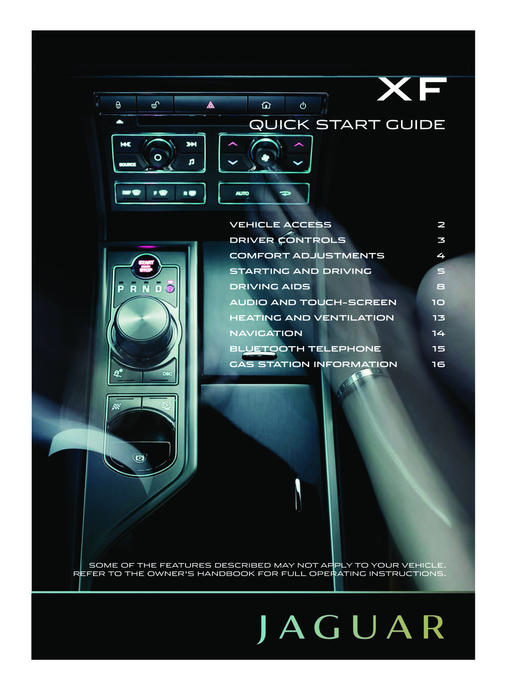 2011 Jaguar Xf owners manual