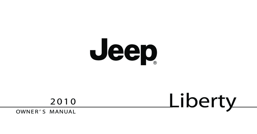 2010 Jeep Liberty owners manual