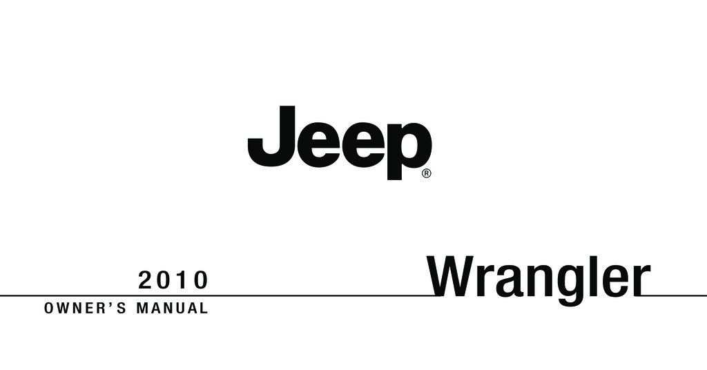 2010 Jeep Wrangler owners manual