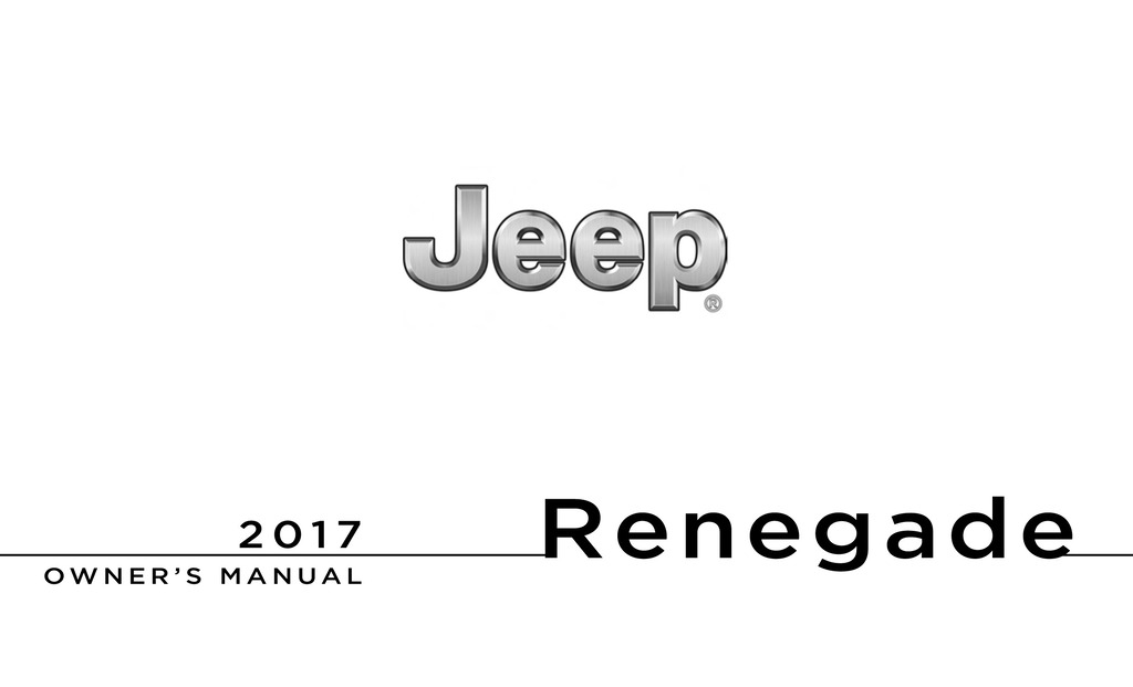 2017 Jeep Renegade Owner's Manual