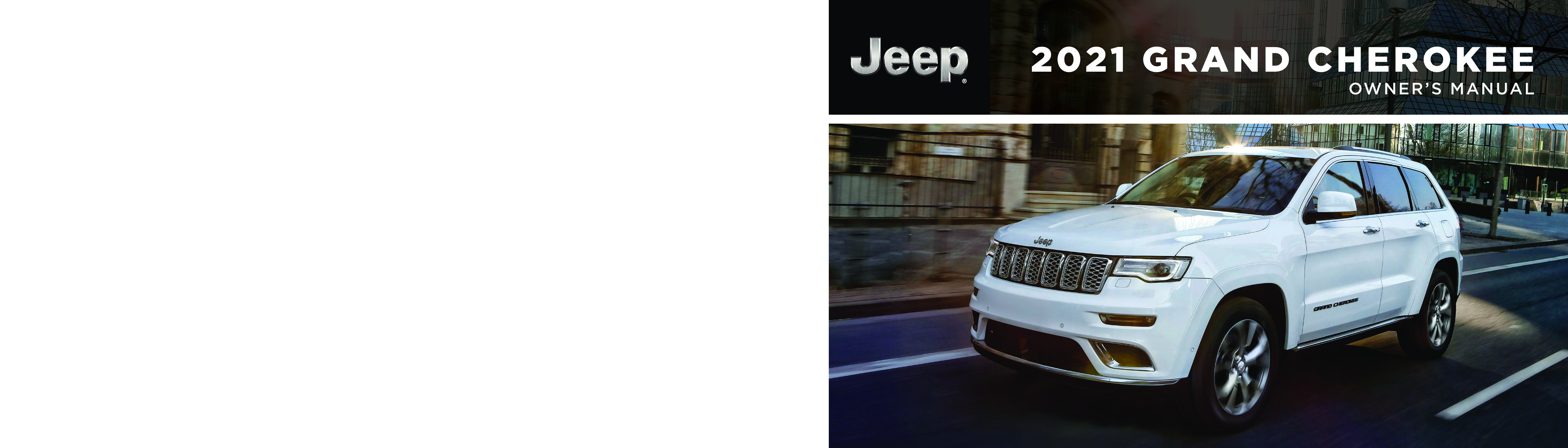2021 Jeep Grand Cherokee owners manual