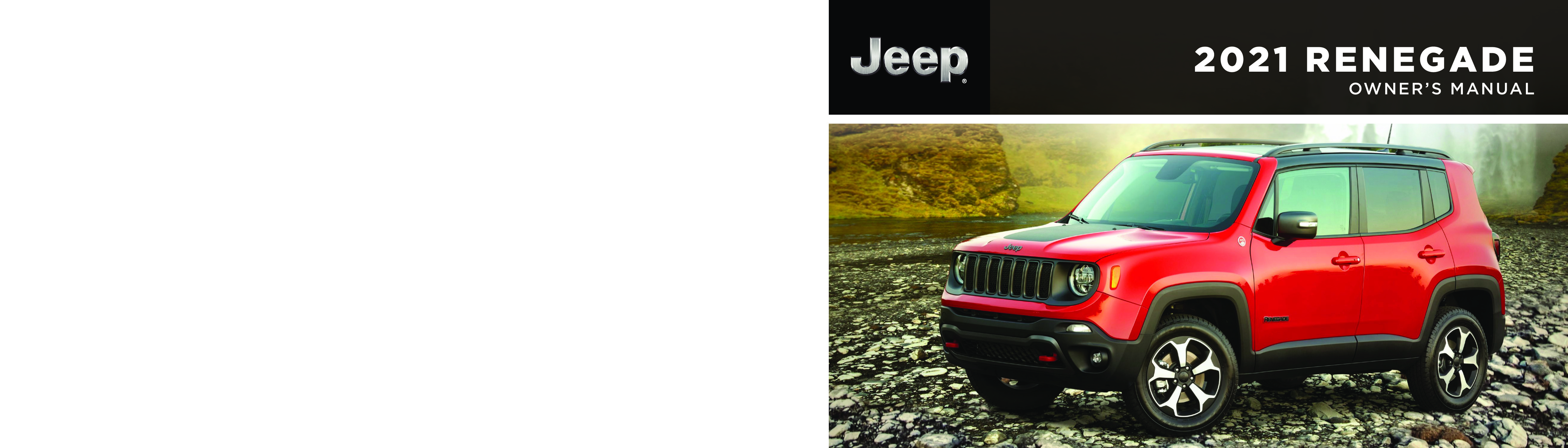 2021 Jeep Renegade owners manual