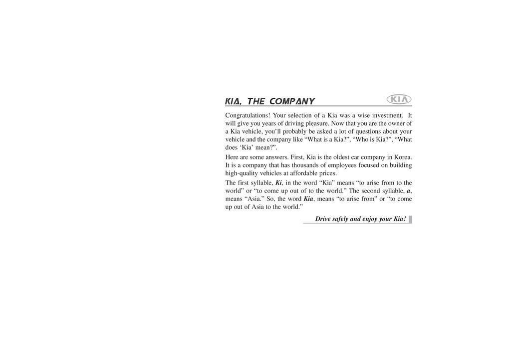 2006 Kia Rio owners manual