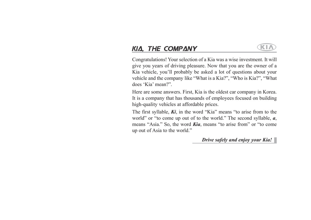 2008 Kia Sorento owners manual