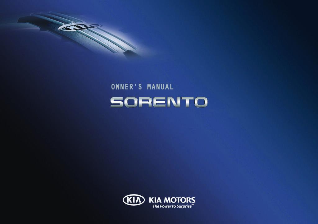 2011 Kia Sorento owners manual