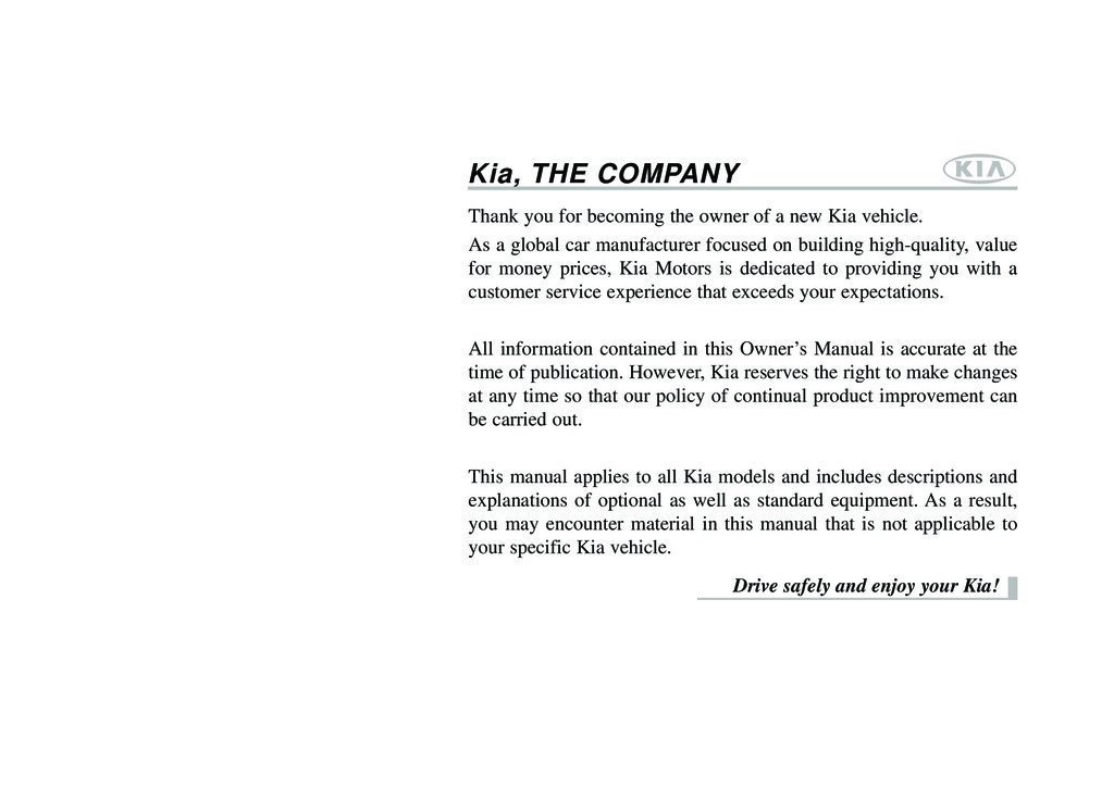 2013 Kia Rio owners manual