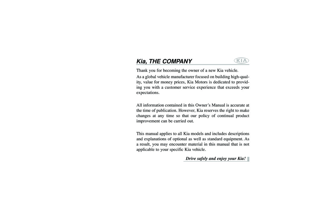 2014 Kia Sorento owners manual