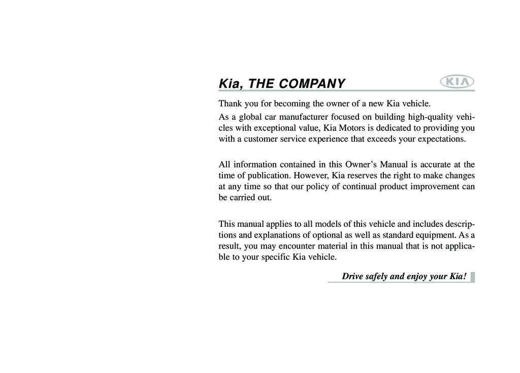 2014 Kia forte owners manual