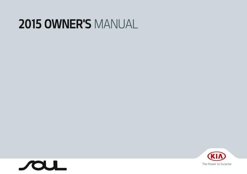 2015 Kia Soul owners manual